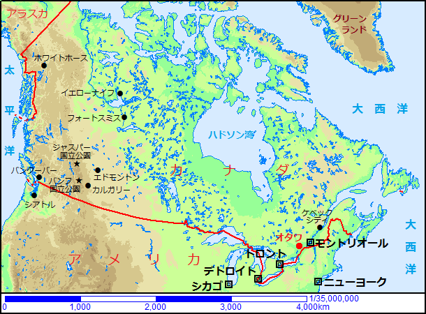 カナダの観光地 海外旅行準備室 トップページ   このサイトのご案内 カナダ - Canada